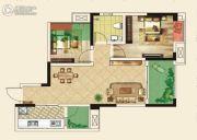 仁美大源印象2室2厅1卫71平方米户型图