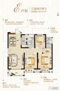 锦艺金水湾3室2厅2卫122平方米户型图