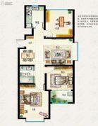海信东山郡3室2厅1卫106平方米户型图