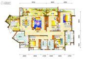 新鸿基悦城4室2厅3卫205平方米户型图