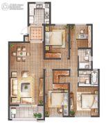 朗诗滨湖绿郡3室2厅2卫142平方米户型图
