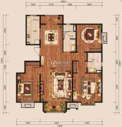 中冶世家3室2厅2卫143平方米户型图