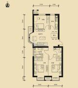 九星国际e世界3室2厅2卫116平方米户型图