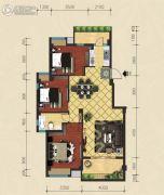 建泓�Z园3室2厅1卫95平方米户型图