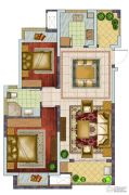 银亿东城2室2厅1卫89平方米户型图