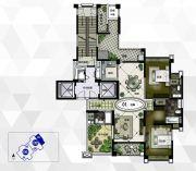 雅居乐御龙山2室3厅2卫190平方米户型图
