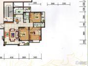 府前雅居苑3室2厅2卫113平方米户型图