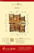 博仕后官邸4室2厅2卫0平方米户型图