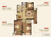 明月湾3室2厅2卫125平方米户型图