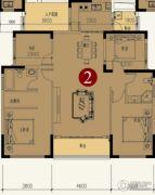 中铁逸都国际4室2厅2卫0平方米户型图