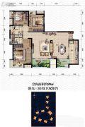 金辉城春上南滨3室2厅2卫99平方米户型图