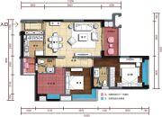 五洲・东方墅3室2厅2卫103平方米户型图