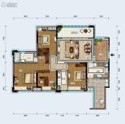中德英伦联邦4室2厅2卫136平方米户型图