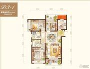绿地海外滩3室2厅2卫115平方米户型图
