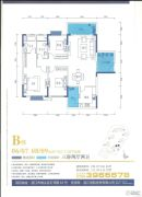 御品蓝湾3室2厅2卫139--142平方米户型图