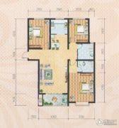 米苏阳光3室2厅2卫124平方米户型图