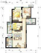 万科云城3室2厅1卫0平方米户型图