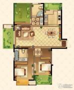 星河国际3室2厅2卫135平方米户型图