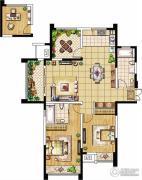 绿洲天逸城3室2厅2卫128平方米户型图
