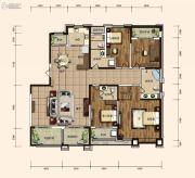 东胜紫御府3室2厅3卫240平方米户型图