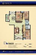 升龙天汇广场3室2厅2卫139平方米户型图
