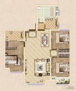 皓顺・华悦城3室2厅2卫108平方米户型图
