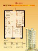隆润国际2室2厅1卫65平方米户型图