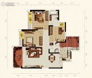 天成郦湖国际社区3室2厅2卫118平方米户型图