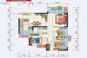 地铁首座3室2厅1卫80平方米户型图
