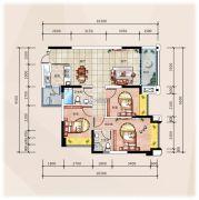 �R豪领逸3室2厅2卫92--99平方米户型图