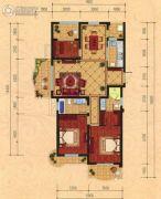 巴黎都市3室2厅1卫138平方米户型图