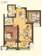 济南世茂天城2室2厅1卫91平方米户型图