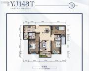 荆州碧桂园3室2厅2卫122平方米户型图