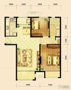 鸿坤・曦望山2室2厅1卫97平方米户型图