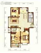 星耀东方国际城3室2厅2卫113--114平方米户型图
