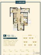 万科美景魅力之城3室1厅1卫88平方米户型图