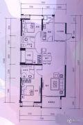 厚街万达广场3室2厅2卫0平方米户型图