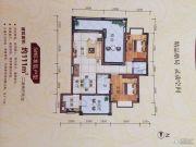 安源雅苑2室2厅2卫111平方米户型图