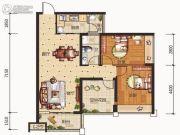 合信地王广场2室2厅1卫0平方米户型图