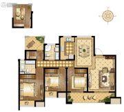 万科维园3室2厅2卫127平方米户型图