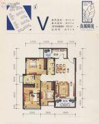 尚城峰境3室2厅2卫97平方米户型图