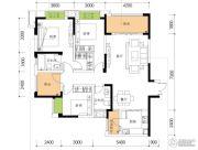 公园置尚3室2厅2卫97平方米户型图