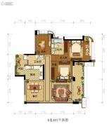雅居乐新城湾畔3室2厅2卫131平方米户型图