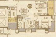 优越香格里2室2厅1卫76平方米户型图