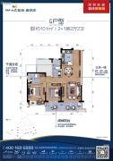 碧桂园十里银滩2室2厅2卫101平方米户型图