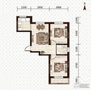 益和国际城2室1厅1卫74平方米户型图