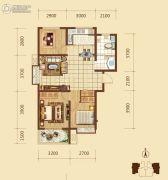 锦绣文华3室2厅1卫94平方米户型图