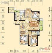 元森北新时代4室2厅2卫139平方米户型图