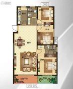 华明星海湾3室2厅2卫127平方米户型图