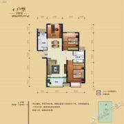 骏景溪悦3室2厅1卫107平方米户型图